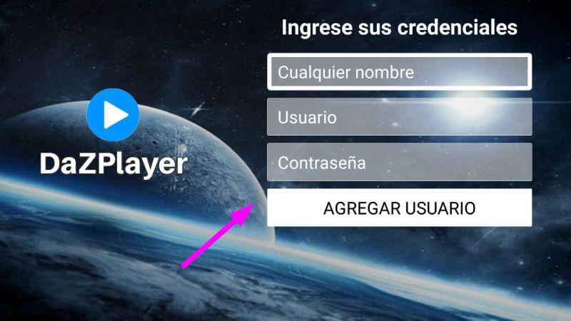 usuario para Dazplayer