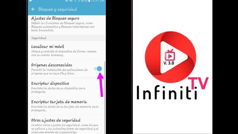 descargar infinity TV en Android