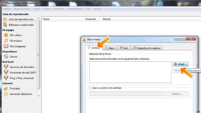 archivo m3u en VLC PREMIUM