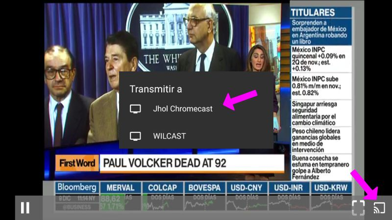 Thanos TV en Chromecast