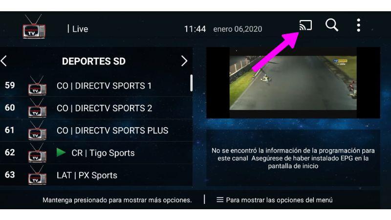conectar DominionTV a Smart TV
