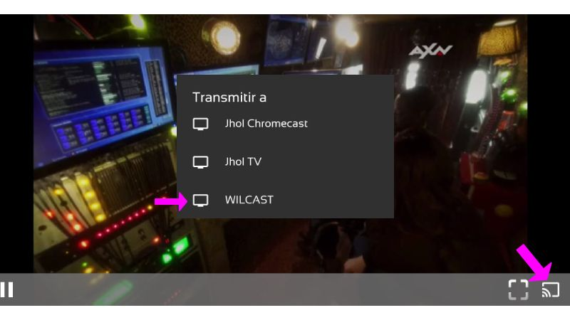 enviar contenido de Perrote TV apk a chromecast