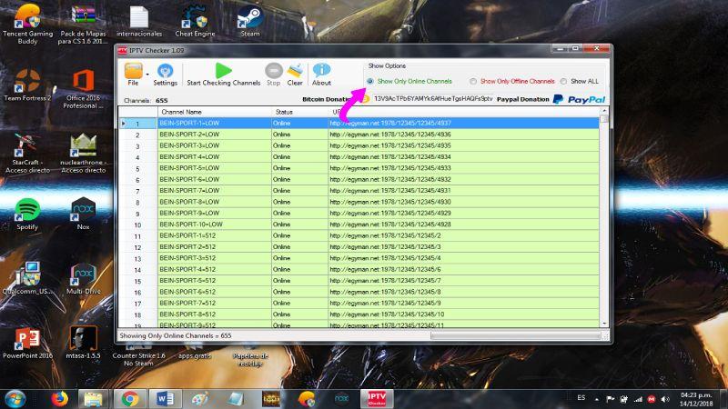limpiar listas IPTV y M3U en IPTV Checker