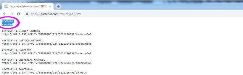 listas m3u Pastebin actualizadas