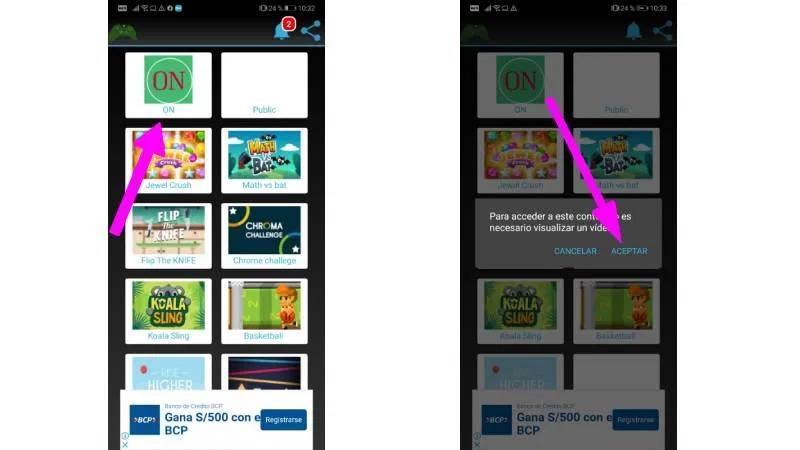 Juegos Free apk activar magna tv