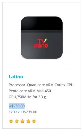 como comprar Caja box de tele latino