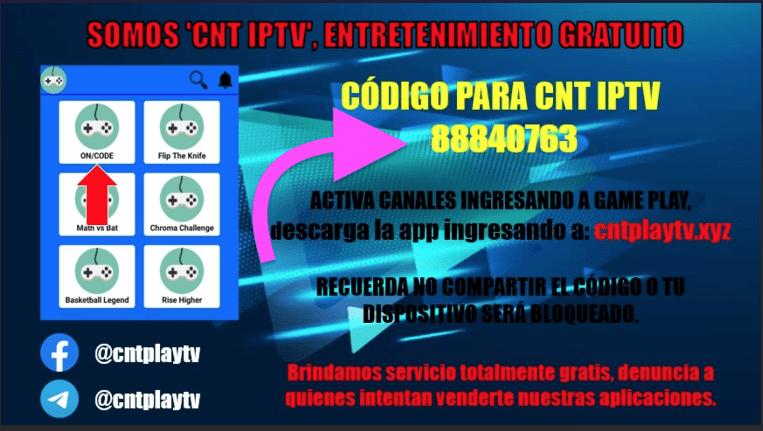 Codigo de Activacion de CNT IPTV