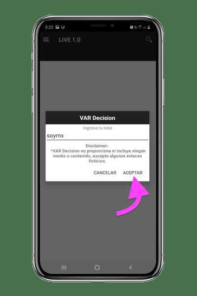 lista m3u para activar VAR Decision
